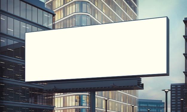 Billboard reklamowy na noc miasta
