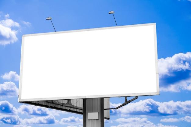 Billboard z białym tłem