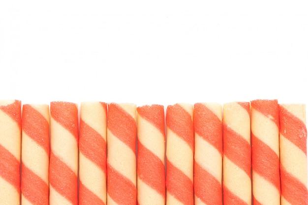 Biszkopty waflowe o smaku truskawkowo-śmietankowym