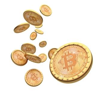 Bitcoin 3d tło