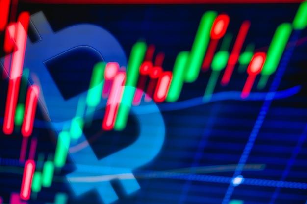 Bitcoin i graficzna kryptowaluta bitcoin