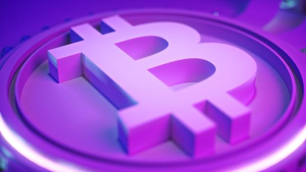 Bitcoin kryptowaluta tło farma wydobywcza z miejsca na kopię.