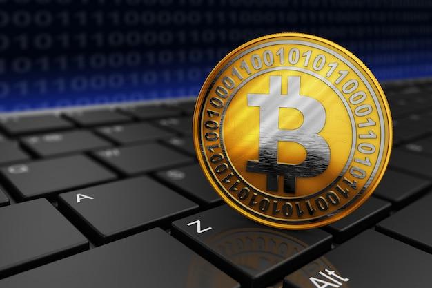 Bitcoin na klawiaturze