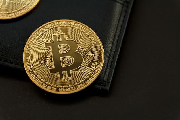 Bitcoin to miejsce na portfelu, koncepcja technologii handlu kryptowalutami.