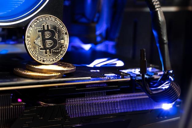 Bitcoin złote monety na gpu. przyszłość pieniędzy.