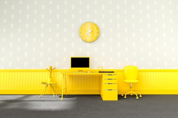 Biurko żółte