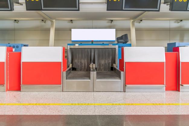 Biuro odprawy bagażu na lotnisku