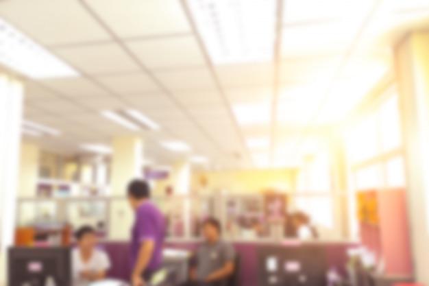 Biurowy tło, zamazany biurowy wnętrze.