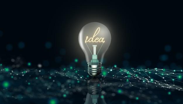 Biznes jasny pomysł kreatywna i innowacyjna inspiracja koncepcja
