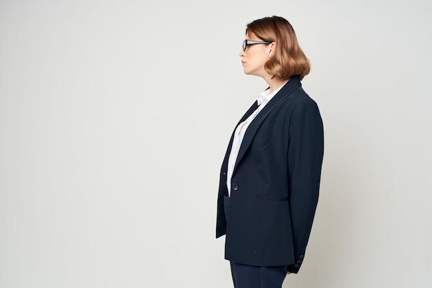 Biznes kobieta profesjonalny kierownik biura pracy. zdjęcie wysokiej jakości