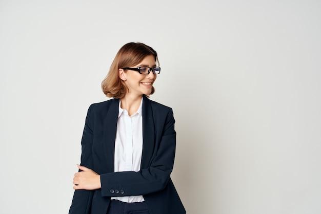 Biznes kobieta profesjonalny kierownik biura pracy