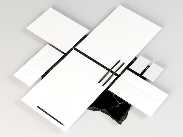 Biznes papeterii układ kopia przestrzeń