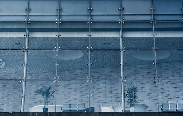 Biznes wnętrze budynku z roślinami