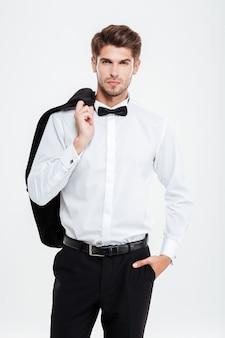 Biznesmen. bez kurtki