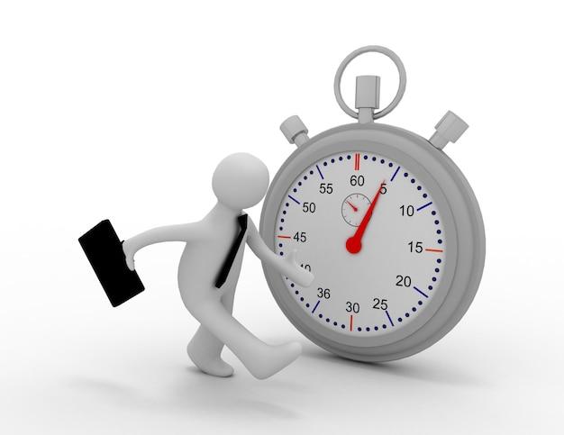 Biznesmen działa na czas