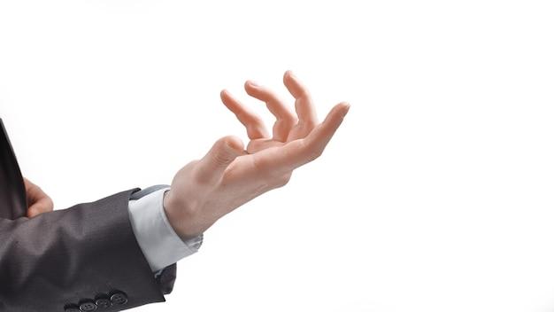 Biznesmen gestykuluje