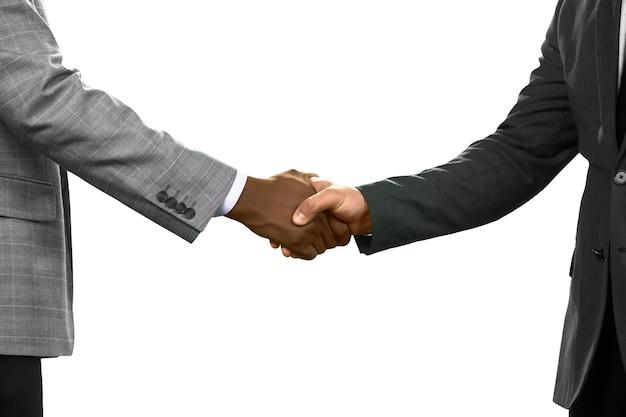 Biznesmen pozdrowienie. przyjazny gest. doceń swoich sojuszników. dzięki za wszystko.
