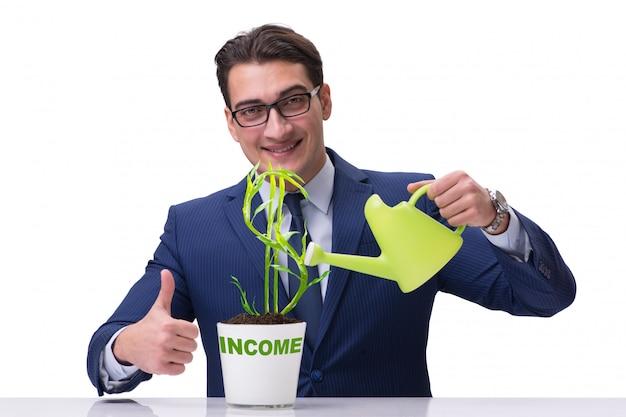 Biznesmen w nowym biznesowym pojęciu