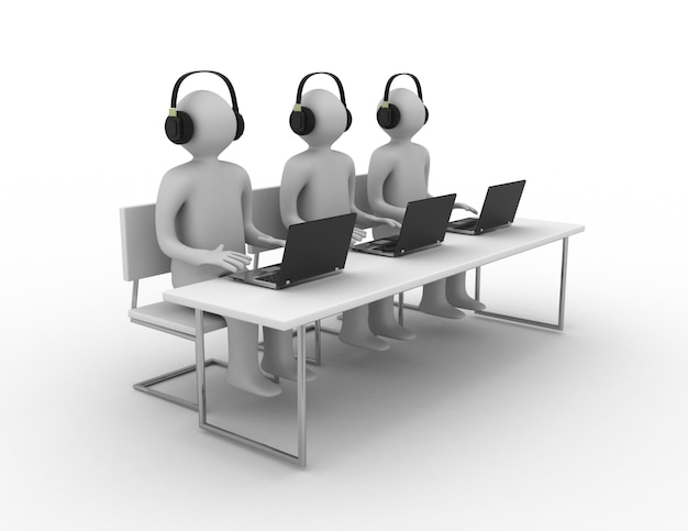 Biznesmen z laptopem, koncepcja pracy zespołowej
