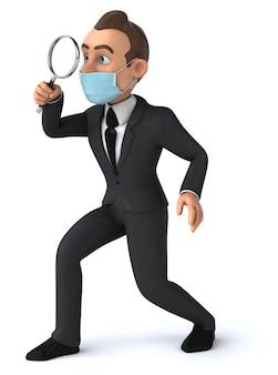Biznesmen z maską