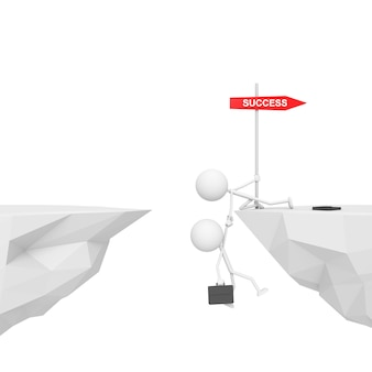 Biznesmen z pracy zespołowej pojęciem. renderowanie 3d.