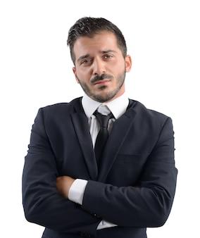 Biznesmen zdemoralizowany problemami firmy