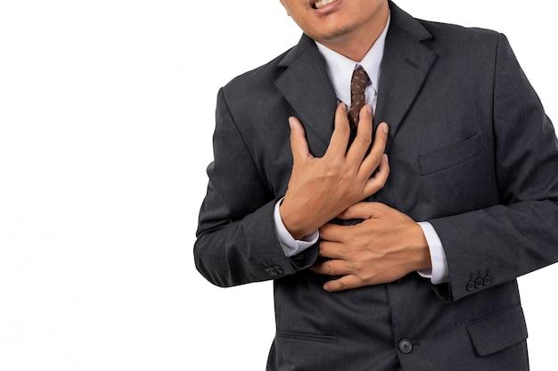 Biznesmeni chwytają skrzynię z bólu
