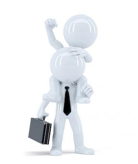 Biznesmeni siedzą na ramionach kolegów. pomysł na biznes. odosobniony. zawiera ścieżkę przycinającą