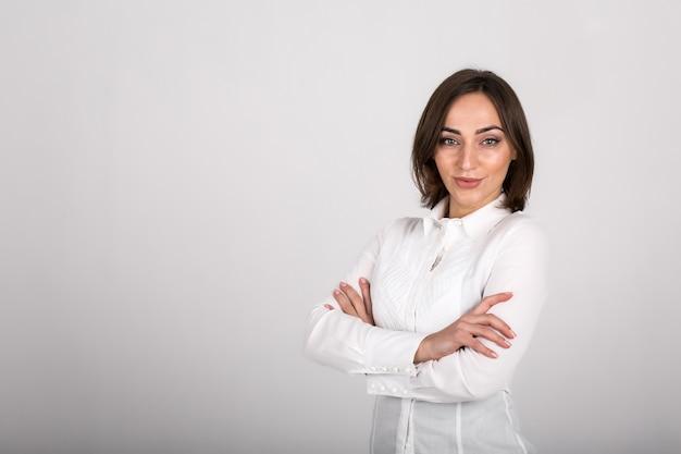 Biznesowa kobieta odizolowywająca