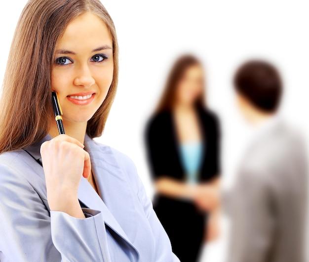 Biznesowa kobieta w biurze