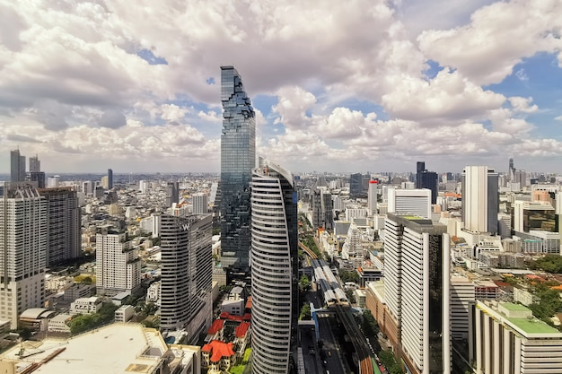 Biznesowe centrum miasta w bangkoku