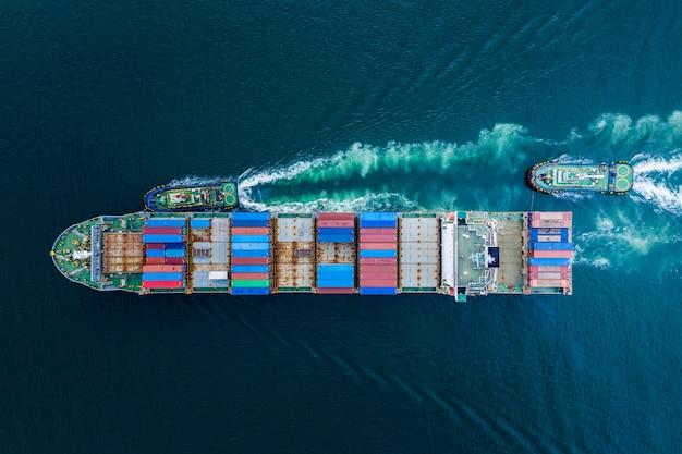 Biznesowe kontenery transportowe importują eksport międzynarodowy z tajlandii