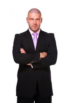 Biznesowy mężczyzna odizolowywający
