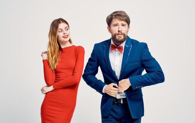 Biznesu mężczyzn i kobiet emocje atrakcyjny wygląd luksusowy rodzinny elegancki styl.