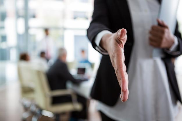 Bizneswoman drżenie ręki