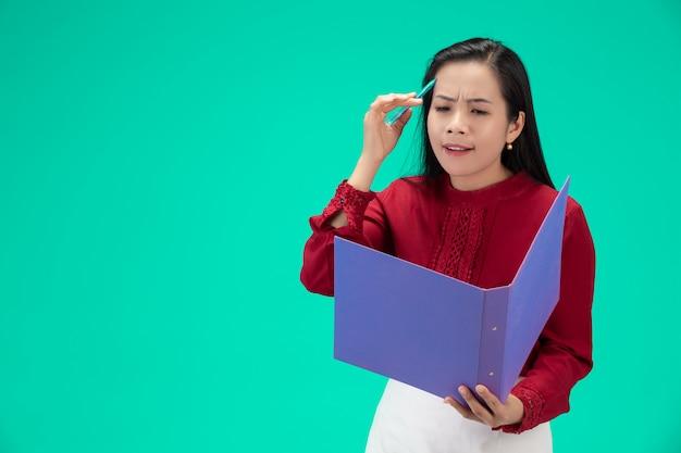 Bizneswoman gospodarstwa pliku