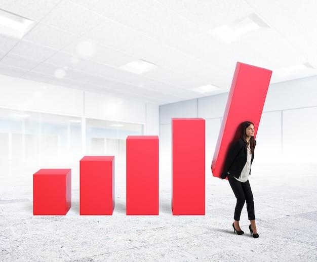 Bizneswoman na zyski firmy