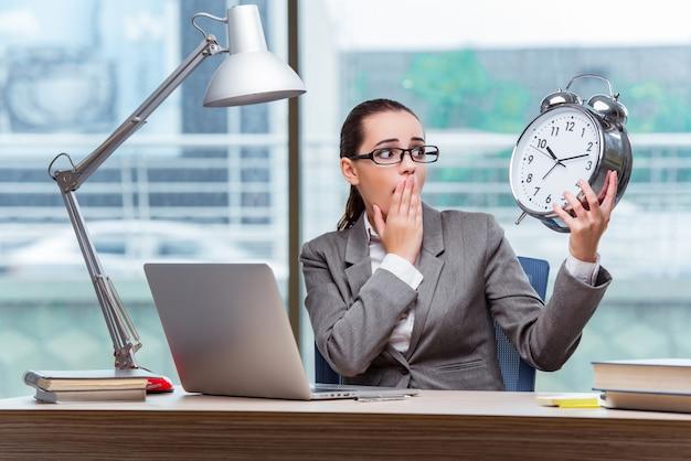 Bizneswoman nie spełnia jej terminów w koncepcji biznesowej