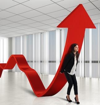 Bizneswoman pomaga statystykom