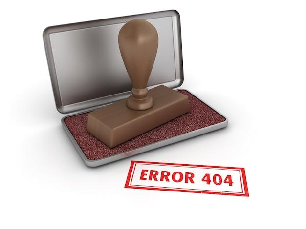 Błąd 404 pieczątka
