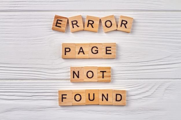 Błąd na stronie internetowej.