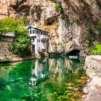 Blagaj tekija piękny klasztor pod klifem zabytki bośni i hercegowiny
