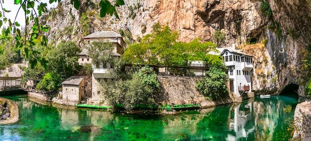 Blagaj tekija piękny klasztor. zabytki bośni i hercegowiny