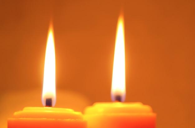 Blasku świecy Tło Przy Nocą Premium Zdjęcia