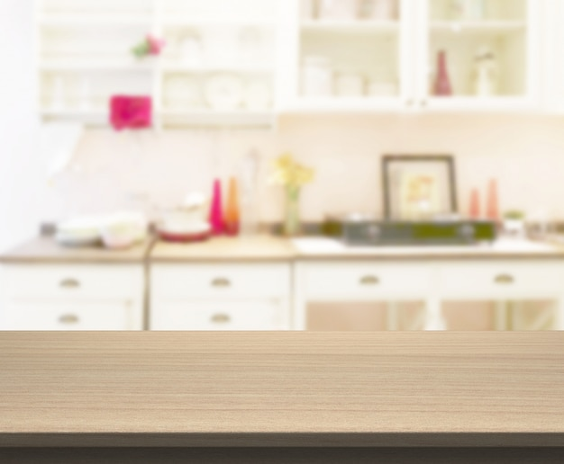 Blat do prezentacji produktu. blur kitchen room