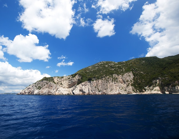 Błękit jaskiniowy na zakynthos wyspie, grecja