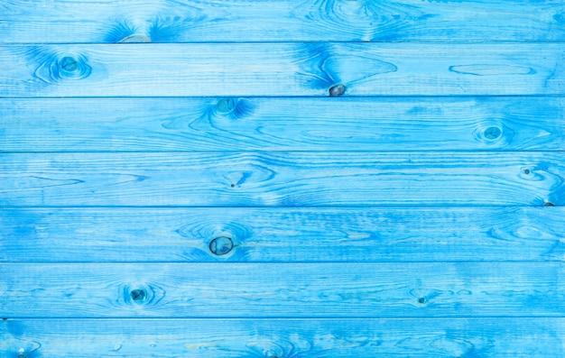 Błękitna drewniana tło tekstura z naturalnymi wzorami