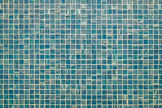 Błękitna i zielona mozaiki ściany tła tekstura
