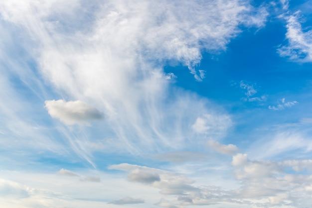 Błękitne niebo i biała chmura