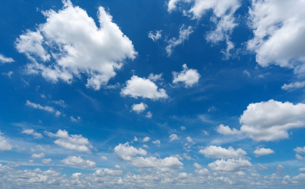 Błękitne niebo z chmurami puszyste niebo chmury cloudscape słabe chmury miękkie koncepcja charakter tła i podróży. stronie internetowej. tło środowiska.